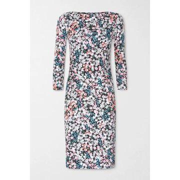 Erdem - Reese Floral-print Stretch-ponte Dress - Black