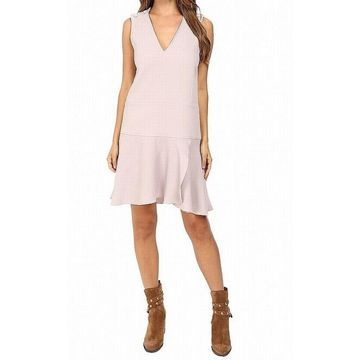 See by Chloe Gray Womens Size FR 40 US 8 V-Neck Robe Shift Dress