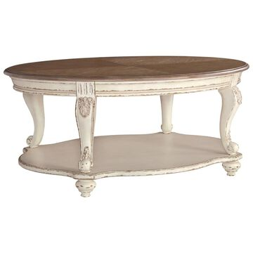 Signature Design by Ashley Realyn White/Brown Wood Coffee Table
