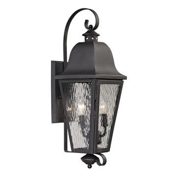 Westmore Lighting Black Creek 24-in H Charcoal Candelabra Base (E-12) Outdoor Wall Light