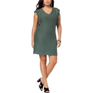 Planet Gold Womens Plus Jersey Mini Cocktail Dress