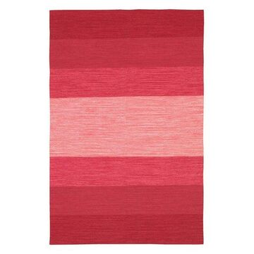 India Contemporary Area Rug, Red and Pink, 3'6x5'6 Rectangle