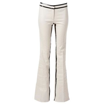 Derek Lam Ecru Linen Trousers