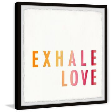 Marmont Hill - Handmade Exhale Love Gold II Framed Print