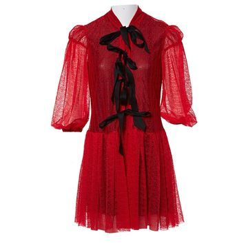 Philosophy Di Lorenzo Serafini Red Polyester Dresses