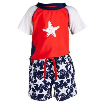 Baby Boys 2-Pc. Starfish-Print Swim Set, Created for Macy's