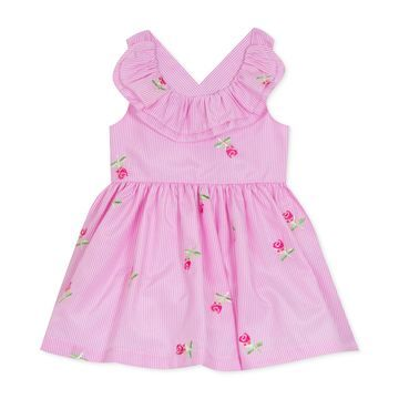 Baby Girls Floral Embroidered Ruffle Dress