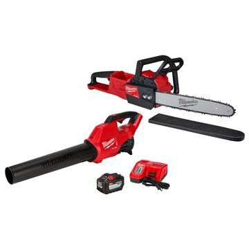 Milwaukee M18 Fuel 16 in. 18 V Battery Chainsaw/Leaf Blower Combo Kit (Battery & Charger)