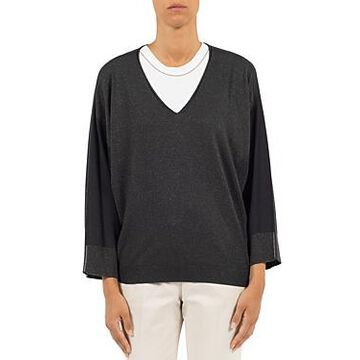 Peserico Metallic Colorblocked Sweater