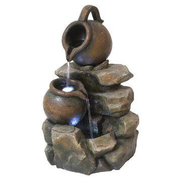 Design Toscano 21.5-in H Resin Rock Fountain Outdoor Fountain   QN150006