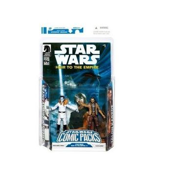 Star Wars Clone Wars Action Figure Comic 2-Pack Dark Horse: Heir to the Empir...