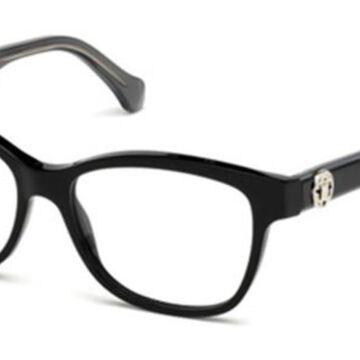 Roberto Cavalli RC 5050 FIVIZZANO A05 Womenas Glasses Black Size 53 - Free Lenses - HSA/FSA Insurance - Blue Light Block Available