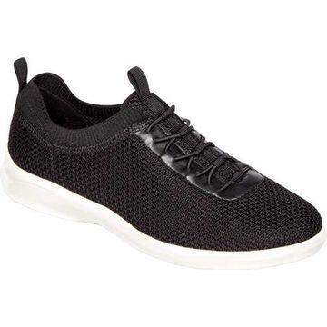 Aravon Women's PC Bungee Sneaker Black Knit