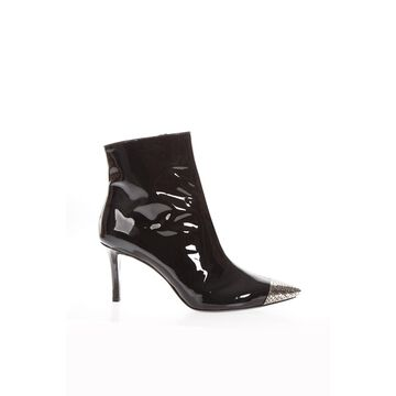 Marc Ellis Black Patent Metal Toe Boots