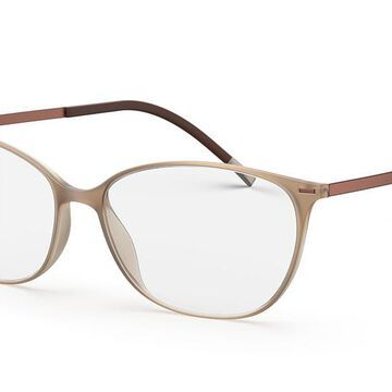 Silhouette 1590 6040 Womenas Glasses Brown Size 52 - Free Lenses - HSA/FSA Insurance - Blue Light Block Available