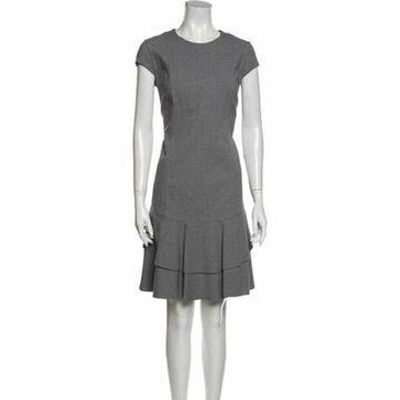 Crew Neck Knee-Length Dress Grey