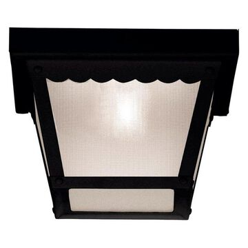Savoy House Exterior Collections Flush Mount, Black