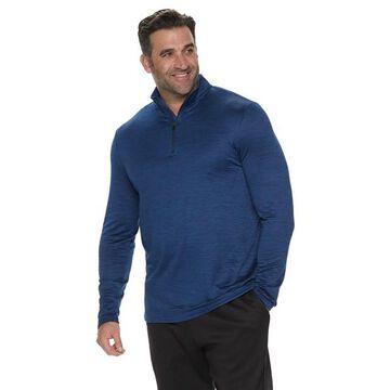 Big & Tall Tek Gear Jacquard Fleece Quarter-Zip Pullover
