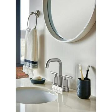 Moen Gibson Two Handle Lavatory Faucet 4 in. Brushed Nickel