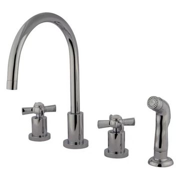 Kingston Brass Millennium Widespread Kitchen Faucet, Polished Chrome