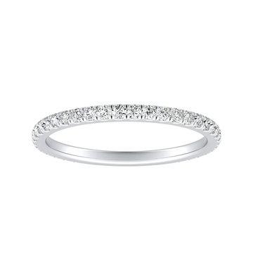 Auriya Platinum 1/3cttw Diamond Wedding Band