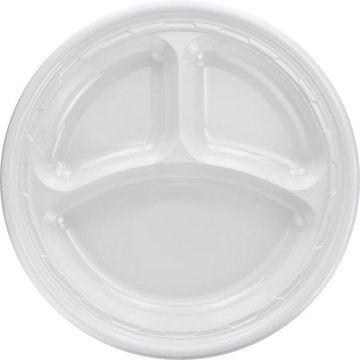 Dart 3-sect Disposable Plastic Dinnerware Plate