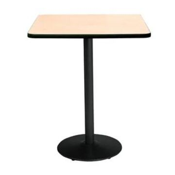 """KFI Mode Square Bistro Breakroom Table, Round Base (30"""" W x 30"""" D x 42"""" H - Natural)"""