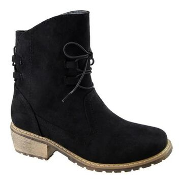 Beacon Shoes Women's Vail Boot Black Microsuede