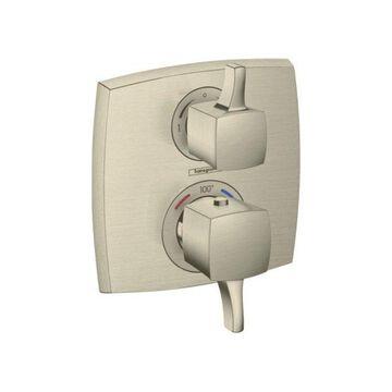 Hansgrohe Ecostat Classic Trim, Volume Control & Diverter, Brushed Nickel