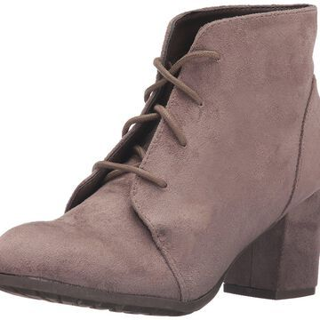 Madden Girl Womens Torch Fabric Round Toe Ankle Fashion, Dark Taupe, Size 9.5