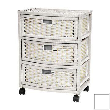 Oriental Furniture White Pine 5-Drawer Chest | JH09-051-3-WHT