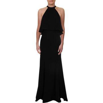 Xscape Womens Crepe Halter Evening Dress