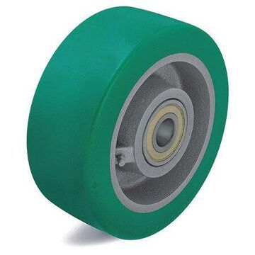 ZORO SELECT GST 127/20K-BB0.5 Caster Wheel,Polyurthane,5 in.,990 lb.