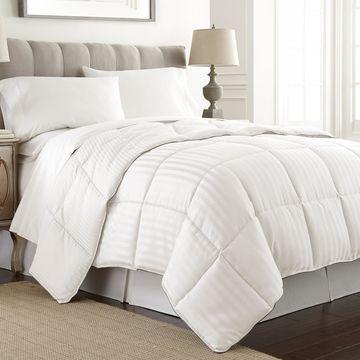 Amrapur Overseas Embossed Dobby Stripe Down Alternative Comforter