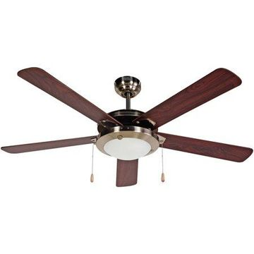 BLACK+DECKER BCF5211 52-Inch 5-Bladed Pull Chain Brushed Nickel Ceiling Fan