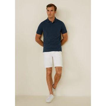 MANGO MAN - Plain cotton polo shirt navy - L - Men