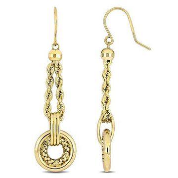 10kt Yellow Gold Dangle Fashion Earrings