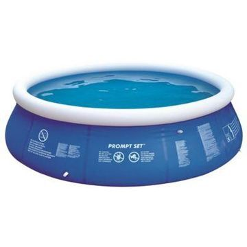 Pool Central Prompt Set Inflatable Swimming Pool in Blue/White