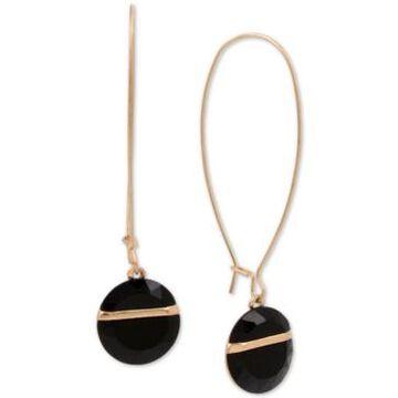 Robert Lee Morris Soho Gold-Tone Geometric Stone Linear Drop Earrings