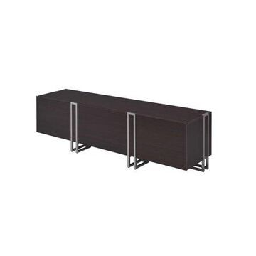 ACME Cattoes TV Stand in Nickel and Walnut