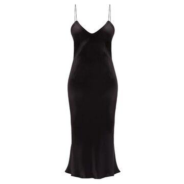 Saint Laurent - Bias-cut Satin Slip Dress - Womens - Black
