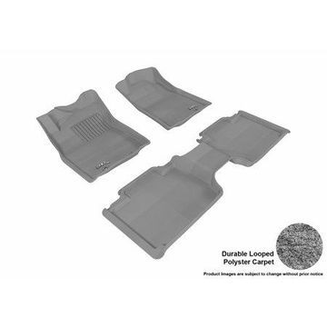 3D MAXpider 2012-2015 Toyota Tacoma Access Cab Front & Second Row Set All Weather Floor Liners in Gray Carpet