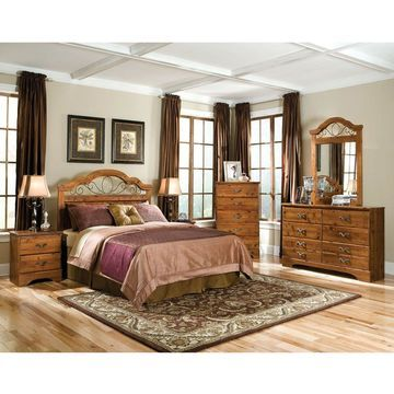 Cambridge Venice Brown Wood 6-drawer Dresser