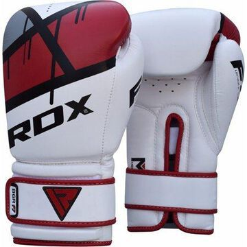 RDX F7 Leather Boxing Gloves, 16oz, Red