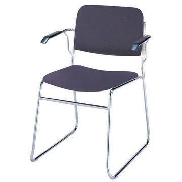 KFI 311 Vinyl Sled Base Stacking Chair