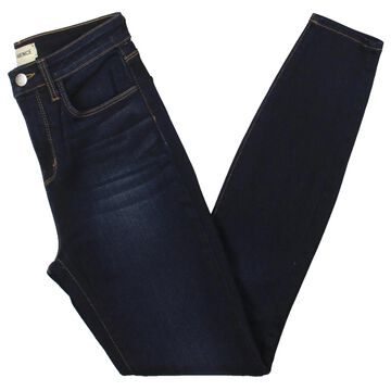 L'Agence Womens Skinny Jeans Denim Dark Wash - Navy