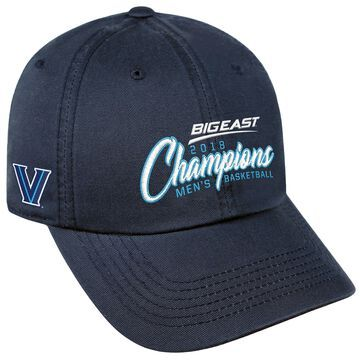 Villanova Wildcats Top of the World 2018 Big East Men's Basketball Conference Tournament Champions Crew Adjustable Hat - Navy
