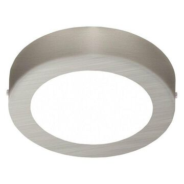 1x11W Ceiling Light, Matte Nickel Finish & White Glass by Eglo, Nick