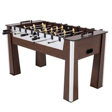 Triumph Milan 5' Foosball Table with Preassembled Player Rods and Legs for Quick Assembly Time and Includes Two Soccer Balls