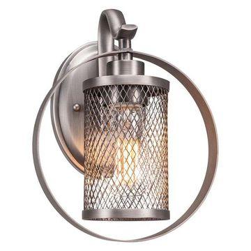 Infinity 1 Sconce Brushed Nickel Fnsh W/Amber Antique Led Bulb (1612-BN-LED18C)